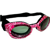 Pink Zebra Pet Dog Sunglasses Doggles ILS with Smoke Lens