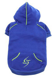 Sport Dog Hoodie - Nautical Blue - Tiny - Big Dog Sizes