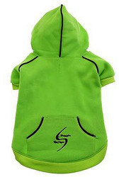 Sport Dog Hoodie - Green Flash - Tiny - Big Dog Sizes