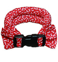 Too Cool Cooling Dog Collars - Red Bones