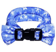 Too Cool Cooling Dog Collars - Snowflakes Blue