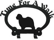 Dog Leash Holder - Old English Sheepdog