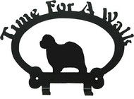 Dog Leash Holder - Old English Sheepdog