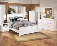 Bostwick Shoals White 6 Pc. Dresser, Mirror, Chest & Queen Panel Bed