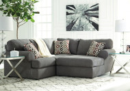 Jayceon Steel Left Arm Facing Sofa & Right Arm Facing Corner Chaise Sectional
