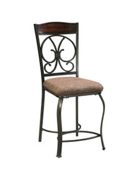 Glambrey Brown Upholstered Barstool