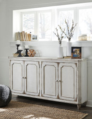 Mirimyn Antique White Door Accent Cabinet