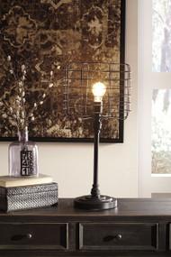 Javan Antique Black Metal Table Lamp