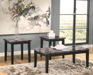 Maysville Black Occasional Table Set