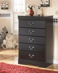 Huey Vineyard Black Five Drawer Chest
