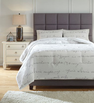 Adrianna White/Gray Queen Comforter Set