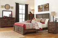 Quinden Dark Brown 7 Pc.Queen Panel Bedroom Collection