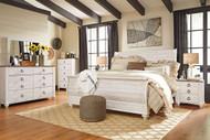 Willowton Whitewash 7 Pc. King Bedroom Collection