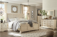 Bolanburg Two-tone 7 Pc. King Panel Bedroom Collection