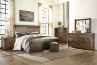 Lakeleigh Brown 5 Pc.King Panel Bedroom Collection