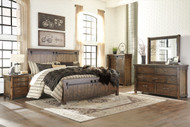 Lakeleigh Brown 7 Pc. King Panel Bedroom Collection