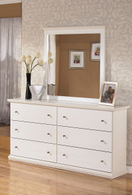 Bostwick Shoals White Dresser & Mirror