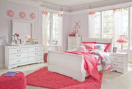 Anarasia White 6 Pc. Kids Full Bedroom Collection