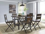 Kavara Medium Brown 7 Pc. Rectangular Counter Height Dining Set