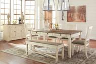 Bolanburg Antique White 7 Pc.  Rectangular Dining Set