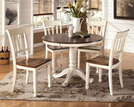 Whitesburg Brown/Cottage White Round DRM Table
