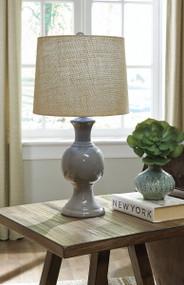 Magdalia Gray Ceramic Table Lamp (1/CN)