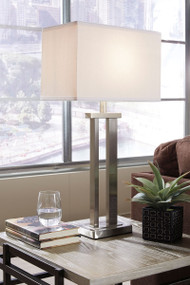 Aniela Silver Finish Metal Table Lamp