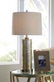 Farrar Gold Finish Glass Table Lamp (1/CN)