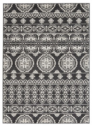 Jicarilla Black/White Medium Rug