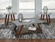 Bellenteen Brown/Silver Occasional Table Set (3/CN)