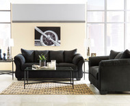 Darcy Black Sofa, Loveseat & Augeron Table Set