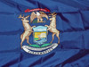"""MICHIGAN NYLON FLAGS 12X18"""" TO 12X18' Made in the USA"""