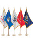 8' US MILITARY 5 BRANCHES INDOOR FLAG SETS