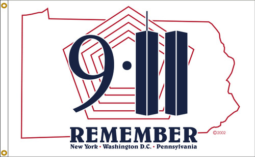 REMEMBER 911 3X5' NYLON FLAG