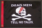 "DEAD MEN TELL NO TALES 12X18"" BOAT FLAG"