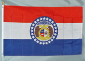 MISSOURI 3X5' S-POLY FLAG IMPORTED