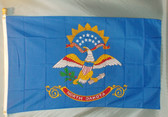 NORTH DAKOTA  3X5' S-POLY FLAG IMPORTED