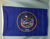 UTAH 3X5' S-POLY FLAG IMPORTED
