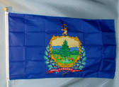 VERMONT 3X5' S-POLY FLAG IMPORTED