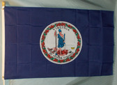 VIRGINIA 3X5' S-POLY FLAG IMPORTED