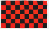 BLACK/RED CHECKERED 3X5' S-POLY FLAG