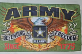 ARMY DEFENDING FREEDOM 3X5' POLY FLAG