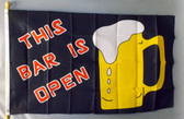 THIS BAR IS OPEN 3x5' S-POLY FLAG