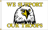 SUPPORT OUR TROOPS 3X5' NYLON FLAG