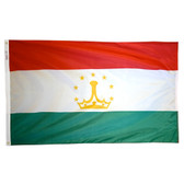 TAJIKISTAN NYLON FLAGS 2X3' TO 5x8'