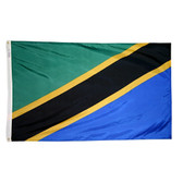 TANZANIA NYLON FLAGS 2X3' TO 5x8'