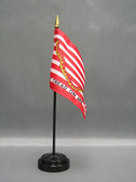 """FIRST NAVY JACK 4X6"""" TABLE TOP FLAG"""