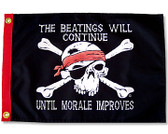 "BEATINGS WILL CONTINUE 12X18"" BOAT FLAG"