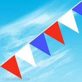 RED WHITE BLUE 105' PENNANT STRING