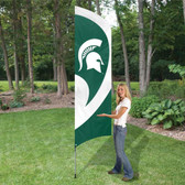 MSU SPARTANS TALL TEAM FLAG KIT